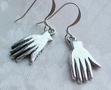 Day of the DEAD Earrings Frida Kahlo HAND Charm Hands Silver Dia De Los Muertos
