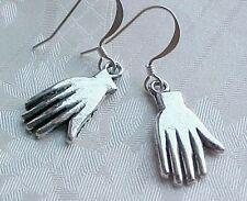 Day of the DEAD Earrings Viva Frida Kahlo HAND Manos Silver Dia De Los Muertos