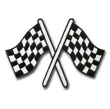 Racing Checkered Chess Finished Flag Patch Embroidered Iron on Badge