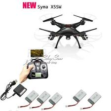 Syma X5SW RC Quadcopter Drone Helicopter WiFi FPV Camera+5 Batteries+Charger