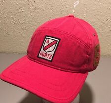 A. Kurtz  AK295 Red Men's Adjustable Cap New Military Distressed Hat
