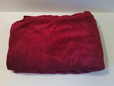 "Red Vintage Velveteen Velvet Fabric 64"" x 2.25 yds Holiday Sewing Material"