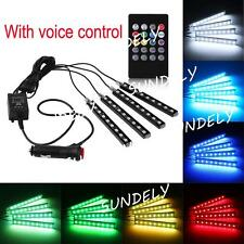 9 LED Remote RGB Multi-color Mood Lighting Atmosphere Car Footwell Interior UK