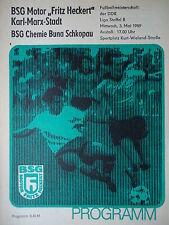 Programma 1988/89 BSG F.H. Karl Marx città-Buna Schkopau