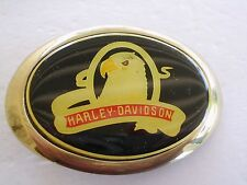 HARLEY DAVIDSON MOTOTCYCLE BELT BUCKLE EAGLE 1983 SOLID BRASS BARON GOLD TONE