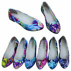 Womens Ballet Flats Ballerina Slippers Casual Slip On Shoes Ladies Floral Retro
