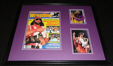 Randy Macho Man Savage 16x20 Signed Framed 1988 Magazine Display JSA WWF