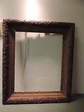 Antique Large Wood Ornate Dark  Gesso 22 x 27  16 x 20  Picture Frame