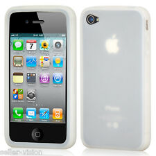 Clear Silicone Rubber Gel Case Cover Protector Protection for Apple iPhone 4/4S