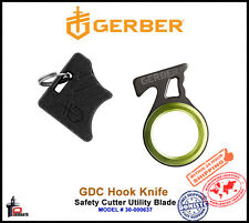 Gerber GDC Hook Knife Safety Cutter Utility Blade Keychain Tool 30-000637