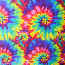 Multi-color Tie Dye Anti Pill Fleece Fabric, 60""