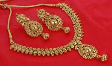 1874 Designer Bollywood Gold Plated Jewelry Indian Kundan Bridal Necklace Set