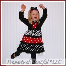 BonEful GIRL RTS NEW 2 3 Sm Boutique DISNEY Girl Minnie Knit Fabric Cotton Dress