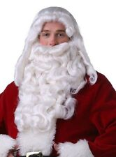 Professional Super Deluxe Long Santa Wig & Beard Set for Christmas