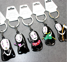 Anime Studio Ghibli Spriited Away No Face Man Keychain Key Ring Pendant