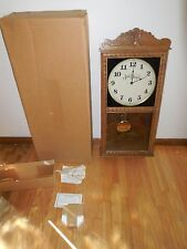 (VTG) JACK DANIELS REVERSE ON GLASS GIANT WOODEN PENDULUM CHIMING CLOCK MIB RARE