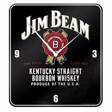 120710 JIM BEAM KENTUCKY BLACK TIN WALL CLOCK BOURBON WHISKEY GIFT IDEA