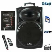 NEW*beFree Sound*BLUETOOTH*Battery POWERED Portable DJ PA PARTY Speaker System