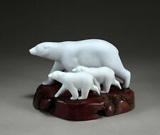 POLAR BEAR & Pair CUBS Figurine New Direct from JOHN PERRY 10in long Statue