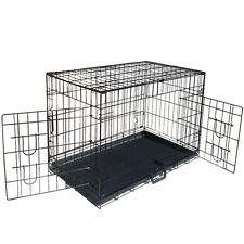 Metal Collapsible Pet Dog Cage Cat Puppy Portable Crate House XXL 48""