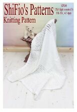 KNITTING PATTERN for BABY SHAWL BLANKET AFGHAN #248 by shifio patterns