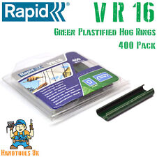 Rapid VR16 GREEN Plastified Hog Rings forFP20 / FP216 Fence Pliers 400 Pack