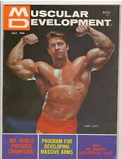 MUSCULAR DEVELOPMENT bodybuilding muscle magazine/LARRY SCOTT 7-66