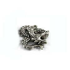 Packet of 6 x Antique Silver Tibetan 29mm Charms Pendants (Dragon) ZX13985