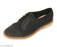 """Clarks Women's """"GRIFFIN MADDY"""" nubuck black leather shoes size 3D.(35.5) New"""