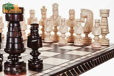 Big Cezar LUXURY HAND CARVED WOODEN CHESS SET 82x82cm