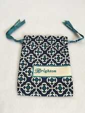 Brighton Small Navy Blue Turquoise Heart Drawstring Dust Bag For Jewelry Gift