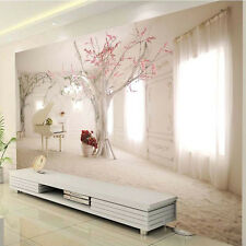 3D Sitting room the bedroom TV mural background cherry blossom piano wallpaper
