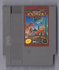 Vintage Nintendo Karnov Video Game NES Cartriage VHTF Data East