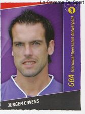 186 JURGEN CAVENS BELGIQUE GERMINAL BEERSCHOT OM STICKER FOOTBALL 2007 PANINI