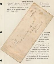 PHILIP CLAYTON ASSISTANT SEC. OF THE TREASURY ON STAMPLESS FOLDED LETTER BR3236