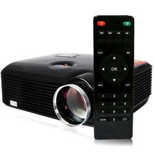 2500 Lumens Projector Mini Home Theater Multimedia FULL HD LED USB HDMI AV Black