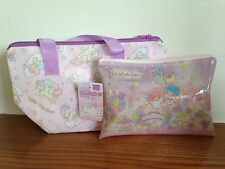 New, Little Twin Stars, KIKI LALA small cooler bag & plastic purse KAWAII SANRIO