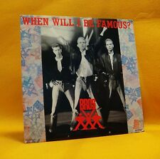 "7"" Single Vinyl 45 Bros When Will I Be Famous? 2TR 1987 (MINT) Synth Pop"