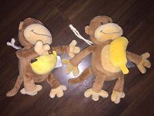 1 Stück - Babylove DM Affe Banane Gelb Braun Spieluhr Plüschtier Schlaf Kindlein