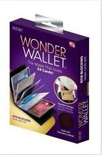 HOT! New Wonder Wallet - Amazing Slim RFID Wallets As Seen on TV, Black Leather