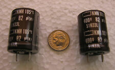 82uF 400V 105°C  Nippon Chemi-Con KMH snap in Electrolytic Capacitors 10 pcs