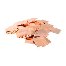 10pcs 20mm*20mm*0.5mm Heatsink Copper pad Shim for XBOX 360 PS3 GPU VGA