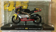 "DIE CAST "" APRILIA RSW 250 WORLD CHAMPION 1999 "" VALENTINO ROSSI 1/18"