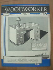 VINTAGE WOODWORKER MAGAZINE APRIL 1950 WRITING TABLE - ENTRANCE GATES