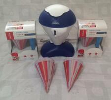 Sunbeam FRSBSC150 Snow Cone Maker Ice Shaver Electric Blue, w/Cups
