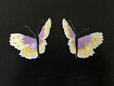 Sew on & iron on  patches(butterfly pair-purple and yellow)