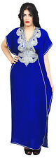 Moroccan Caftan Women kaftan Arabian Beach Dress Fancy Abaya Middle East Blue
