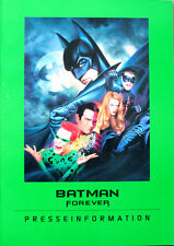 Batman Forever Presseheft Pressbook Val Kilmer, Tommy Lee Jones, Jim Carrey