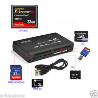 All in One External USB Memory Card Reader SD SDHC Mini Micro M2 SDXC XD CF MS