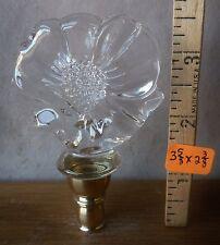 """Lamp Finial Blown Glass Hummingbird w/sunflower brass base 3 5/8""""h x 2 3/8""""w RA"""